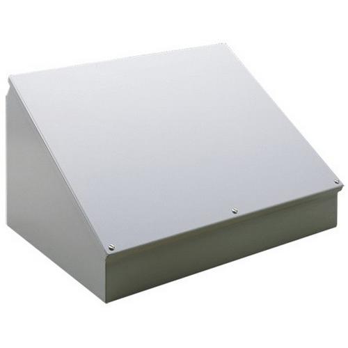 Hoffman C12C12 Consolet; 14 Gauge Steel, ANSI 61 Gray, Desktop/Pedestal/Surface Mount, Sloped Cover