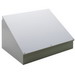 Hoffman C12C12 Consolet; 14 Gauge Steel, ANSI 61 Gray, Desktop/Pedestal/Surface Mount, Sloped Cover
