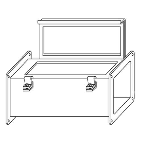 Hoffman F44W12 Straight Section; 12 Inch x 4 Inch x 4 Inch, 14 Gauge Steel, ANSI 61 Gray