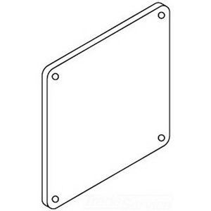 Hoffman F66WPFG Closure Plate For Feed-Through Wireway; 6 Inch x 6 Inch, 10 Gauge 316 Stainless Steel