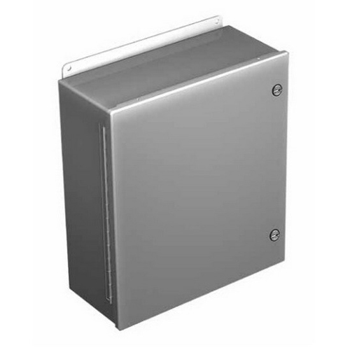 Hoffman Pentair A808CHFL Solid Single Door Quarter-Turn Fast Latch Style Equipment Protection Enclosure; 14 Gauge Steel, RAL 7035 Gray, Wall Mount, Hinged Cover