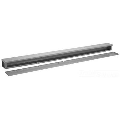 Hoffman A4424RT Wiring Trough; 24 Inch x 4 Inch x 4 Inch, 16 Gauge Galvanized Steel, ANSI 61 Gray