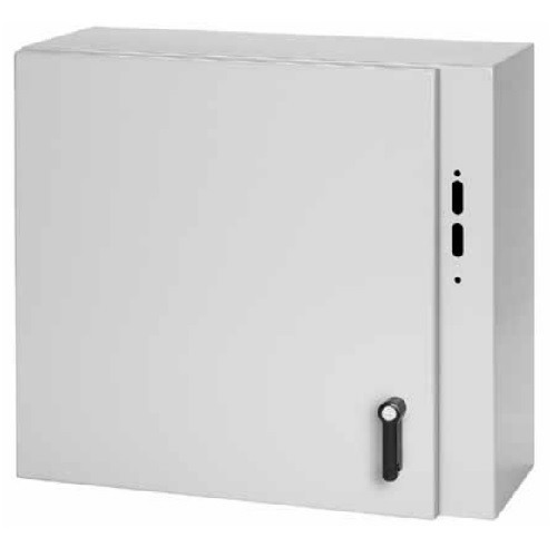 Hoffman Pentair CDSC423212 Concept™ Solid Single Door 3-Point Latch Style Equipment Protection Enclosure; 14 Gauge Steel, ANSI 61 Gray, Wall Mount, Padlocking Cover
