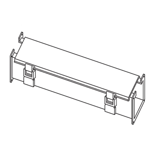 Hoffman F66L120 Straight Section; 120 Inch x 6 Inch x 7.620 Inch, 14 Gauge Steel, ANSI 61 Gray