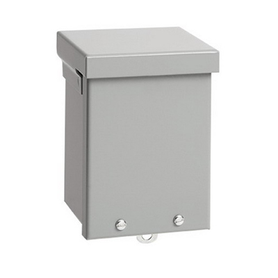 Hoffman A4R44 A Style Body Enclosure; 4 Inch Depth, 16, 14 Or 12 Gauge Galvanized Steel, ANSI 61 Gray, Wall Mount, Screw-On Cover