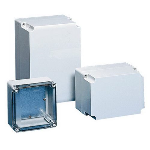 Hoffman Q251810ABE Qline™ E Junction Box; 3.640 Inch Depth, ABS, RAL 7035 Light Gray, Screw-On Cover