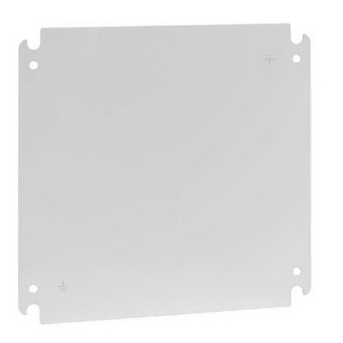 Hoffman Pentair CP2020G Concept™ Conductive Panel; 12 Gauge Steel, White, Fits 20 Inch Width x 20 Inch Height Solid Back Enclosure