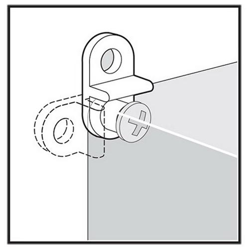 Hoffman QEMFK Qline™ Mounting Bracket Kit; Polycarbonate, For Qline® NEMA 4X/6 Enclosure