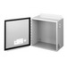 Hoffman A14128CH Enclosure; 8 Inch Depth, 14 Gauge Steel, ANSI 61 Gray, Gasketed/Hinged Cover