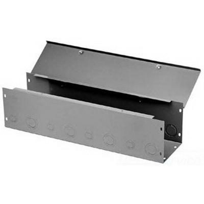 Hoffman F44G24WK Straight Section; 24 Inch x 4 Inch x 4 Inch, 14/16 Gauge Steel, ANSI 61 Gray