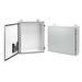 Hoffman Pentair A363008LP Single Door Enclosure; 14 Gauge Steel, ANSI 61 Gray Outside, White Inside, Wall Mount, Padlocking Cover