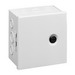 Hoffman AHE8X8X4 Pull Box; 4 Inch Depth, 16 or 14 Gauge Steel, ANSI 61 Gray, Surface Mount, Hinged Cover