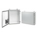 Hoffman Pentair A241608LP Single Door Enclosure; 14 or 16 Gauge Steel, ANSI 61 Gray Outside, White Inside, Wall Mount, Padlocking Cover