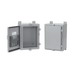 Hoffman Pentair A24H24ALP Solid Single Door Equipment Protection Enclosure; 16 Gauge Steel, ANSI 61 Gray, Wall Mount, Padlocking Cover