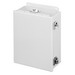 Hoffman A806CHNF Junction Box; 3.500 Inch Depth, 14 Gauge Steel, ANSI 61 Gray, External Feet Mount, Gasketed/Hinged Cover
