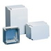 Hoffman Q131313PCE Qline™ E Junction Box; 4.620 Inch Depth, Polycarbonate, RAL 7035 Light Gray, Screw-On Cover