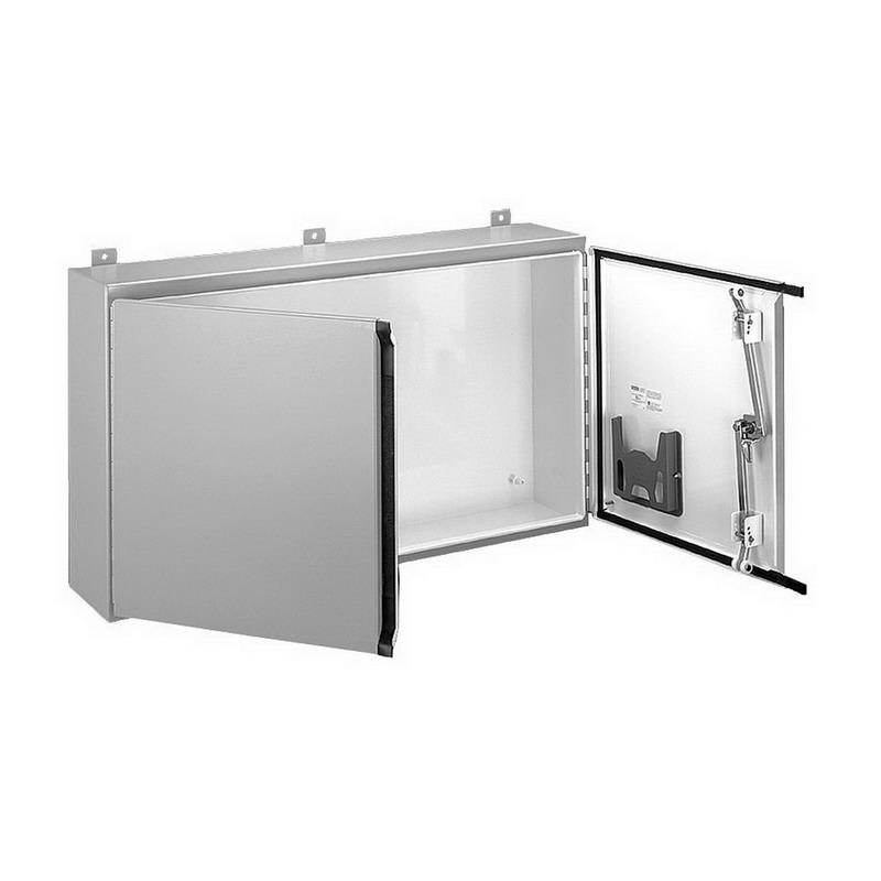 Hoffman a244208wflp pentair solid two door equipment for 14 gauge steel door
