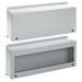 Hoffman LWC236016 Inline™ Landscape Instrumentation Box; 16 Gauge Steel, Light Gray, Wall Mount, Hinged Window Cover