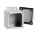 Hoffman A806SC Enclosure; 14 Gauge Steel, ANSI 61 Gray, External Feet Mount, Screwed Cover