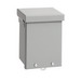Hoffman A12R124 A Style Body Enclosure; 4 Inch Depth, 16, 14 Or 12 Gauge Galvanized Steel, ANSI 61 Gray, Wall Mount, Screw-On Cover