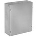 Hoffman ASG6X6X4NK Pull Box; 4 Inch Depth, Galvanized Steel, ANSI 61 Gray, Wall Mount, Flat/Screw-On Cover