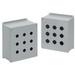 Hoffman E1PBX Extra-Deep Pushbutton Enclosure; 14 Gauge Steel, ANSI 61 Gray, External Feet Mount