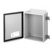 Hoffman A1008CHQR Enclosure; 4 Inch Depth, 14 Gauge Steel, ANSI 61 Gray, Gasketed/Hinged Cover