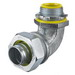 Hubbell Wiring H05091 Insulated 90 Degree Flexible Liquidtight Conduit Fitting; 1/2 Inch, Metallic, Male