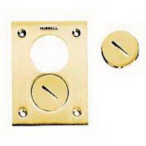 Hubbell Wiring SA5020 Flush Plug; Aluminum