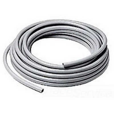 Hubbell Wiring G1038 PolyTuff I® Non-Metallic Liquidtight Conduit; 3/8 Inch, Cap Nut, 100 ft Length, Co-Extruded Rigid and Flexible PVC, Smooth