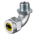 Hubbell Wiring NHC1041ZP Kellems® 90 Degree Cord Connector; 1 Inch MNPT, 0.630 - 0.750 Inch, Steel