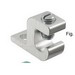 Ilsco GBL-4 Dual Rated Grounding Clamp With Lay-In; 6061-T6 Aluminum Alloy, Stainless Steel Screw, Electro Tin-Plated