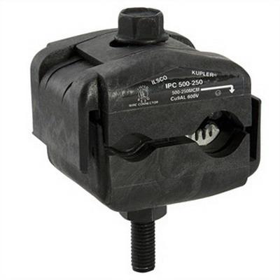 Ilsco IPC-500-250 Multi-Cable Piercing Connector; 500-250 KCMIL, 600 Volt, Black
