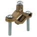 Ilsco BGC-2 Grounding Clamp; 1-1/4 - 2 Inch Pipe, Brass, Bronze Hardware