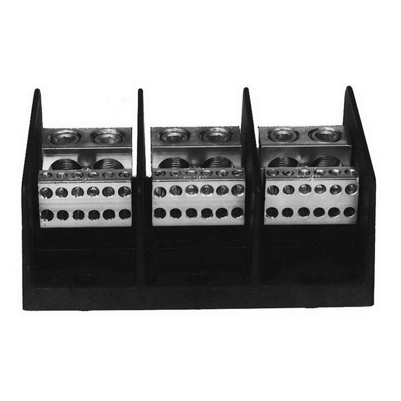 Ilsco PDB-22-2/0-3 Dual Rated Power Distribution Block; 600 Volt, 350 Amp