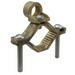Ilsco BGC-2P-DB Direct Burial Grounding Rod Clamp; 1/2, 5/8, 3/4, 7/8, 1 Inch Rod, 1/2 - 1 Inch Pipe, 3/8, 1/2, 5/8, 3/4, 7/8, 1 Inch Rebar, Bronze Alloy, Silicon Bronze Hardware