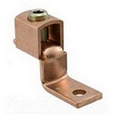 Ilsco SLU-175 Socket Screw Offset Pad Mechanical Lug Connector; 4-3/0 AWG, 1 Hole Mount, Electrolytic Copper