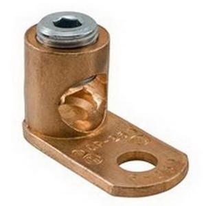 Ilsco CP-8 Slot Screw Mechanical Lug Post Connector; #10 Bolt Size, 14-8 AWG, 1 Hole Mount, Copper Alloy