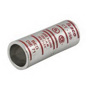 Ilsco CT-3 SureCrimp® Short Barrel Compression Sleeve; 3 AWG, White