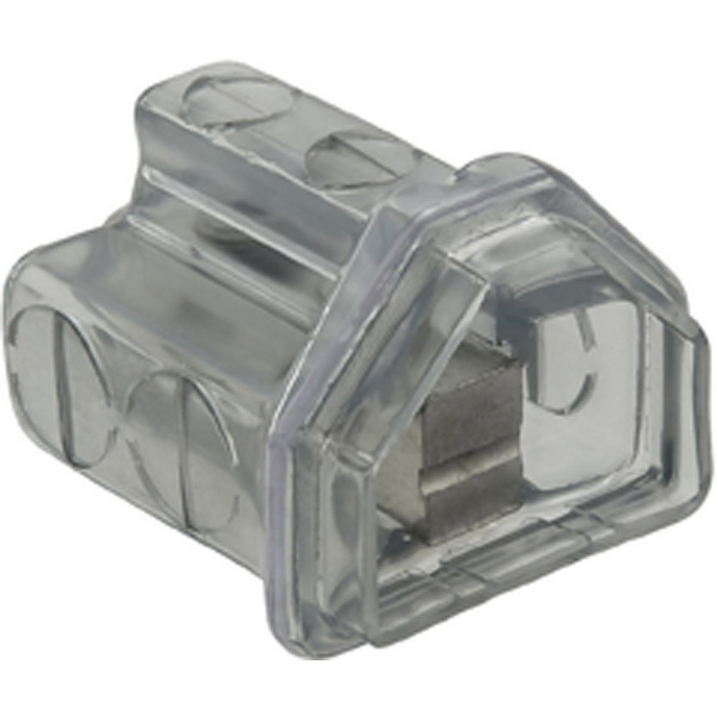 Ilsco PCT-2-600 Cleartap® Multi Tap Two Sided Connector; 4 AWG-600 KCMIL, 2 Ports, 600 Volt, Clear