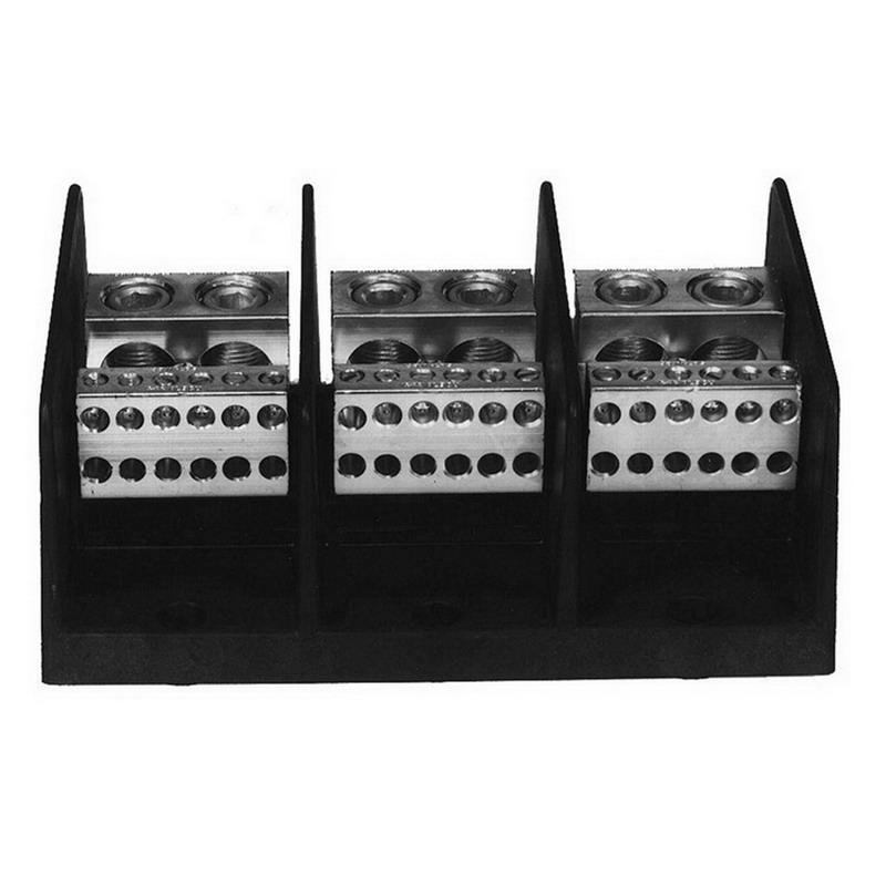 Ilsco PDB-212-4/0-3 Power Distribution Block; 600 Volt, 460 Amp