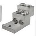 Ilsco PB4-600 Mechanical Panel Board Stack Lug Connector; 2 AWG - 600 KCMIL, 1 Hole Mount, 6061-T6 Aluminum Alloy, Electro Tin-Plated