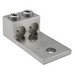 Ilsco AU-350-2N Dual Rated Mechanical Lug Connector; 1/2 Inch Bolt Size, 6 AWG - 350 KCMIL, 2 Hole Mount, 6061-T6 Aluminum Alloy, Electro Tin-Plated