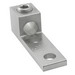 Ilsco TA-350-2NS Mechanical Lug Connector; 1/2 Inch Bolt Size, 6 AWG - 350 KCMIL, 2 Hole Mount, 6061-T6 Aluminum Alloy, Electro Tin-Plated