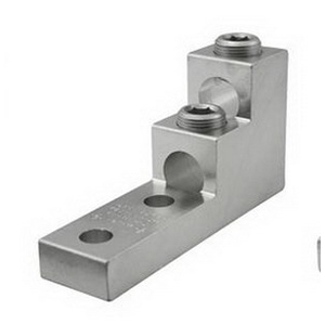 """""""""""Ilsco PB2-600-2N Panel Board Stack Mechanical Lug Connector 1/2 Inch Bolt Size, 600 KCMIL-2 AWG, 6061-T6 Aluminum Alloy, Electro Tin-Plated,"""""""""""" 637151"""