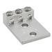 Ilsco T3A2-3/0N Mechanical Lug Connector; 1/2 Inch Bolt Size, 6-3/0 AWG, 2 Hole Mount, 6061-T6 Aluminum Alloy, Electro Tin-Plated