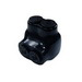 Ilsco PBTS-2-4 Multi Tap One Sided Connector; 14-4 AWG, 2 Ports, 600 Volt, Plastisol, Black