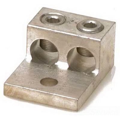 Blackburn / Elastimold ADR21-21 ALCUL Mechanical Lug Connector; 14 AWG - 2/0 AWG Stranded, 1 Hole Mount, Aluminum, Tin-Plated