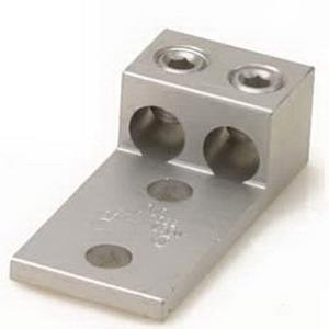 Blackburn / Elastimold ADR60-22D ALCUL Dual Rated Mechanical Lug Connector; 2 AWG Stranded - 600 KCMIL, 2 Hole Mount, Aluminum, Tin-Plated
