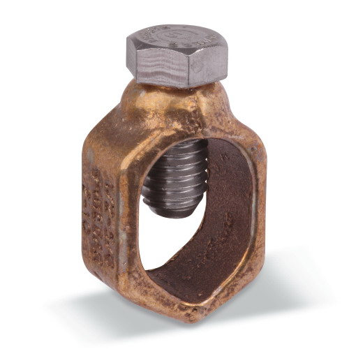 Blackburn / Elastimold G5 G Series Budget-Line Grounding Rod Clamp; 1/2 Inch Rod, #4 Rebar, Copper